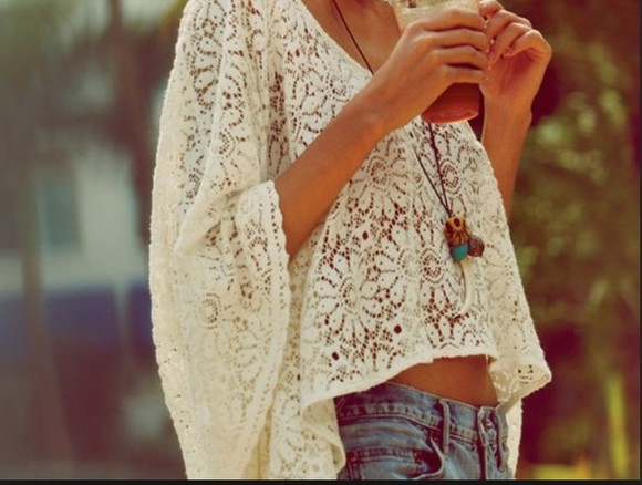 shirt white white shirt lace lace top long sleeve white lace cream