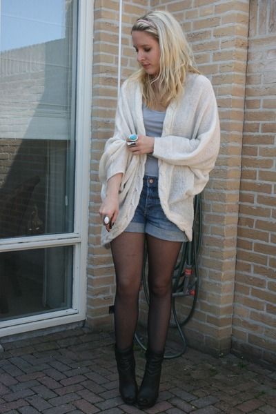 Vero moda cardigans, h&m shorts, look book shoes