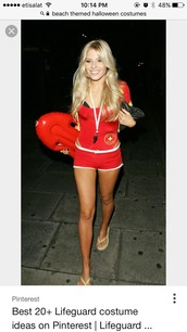 baywatch,halloween costume,red baywatch swimsuit swimming costume,costume,bodysuit