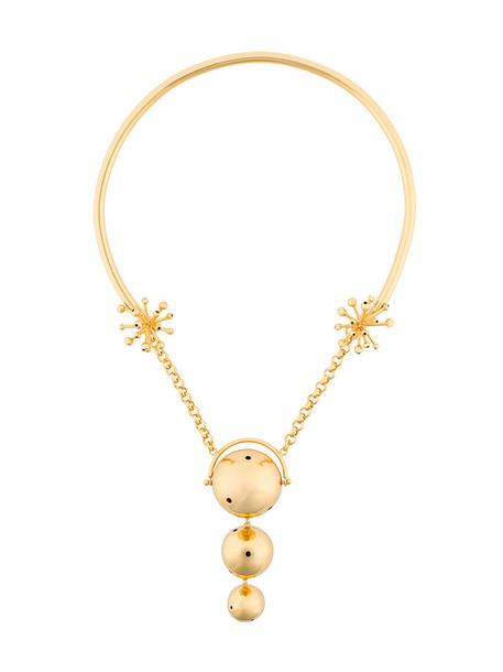 Paula Mendoza women necklace gold grey metallic jewels