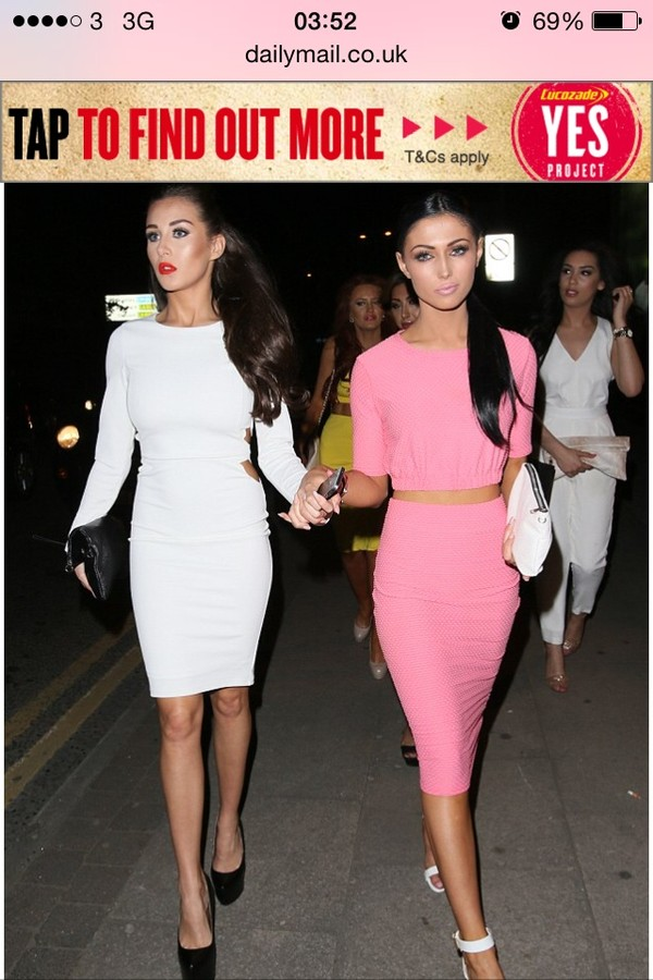 Skirt: pink, two-piece, matching set, midi, pencil skirt - Wheretoget