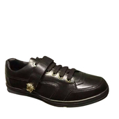 shoes,versace low-top leather sneakers