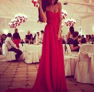 dress classy prom dress red