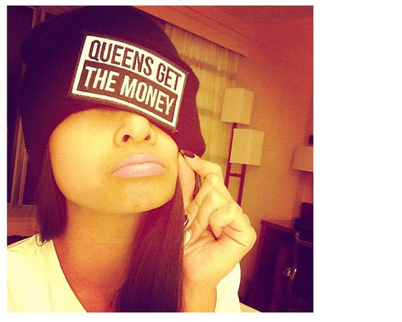 queen hat beanie black