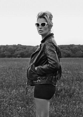 jacket biker jacket kate moss leather leather jacket