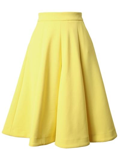 J.w. anderson box pleated neoprene skirt