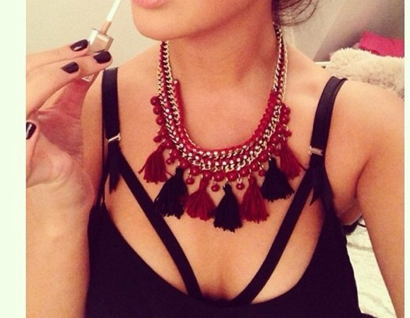 black straps tank top bra top blogger fashion halters