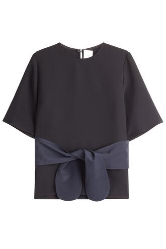 top bow silk black