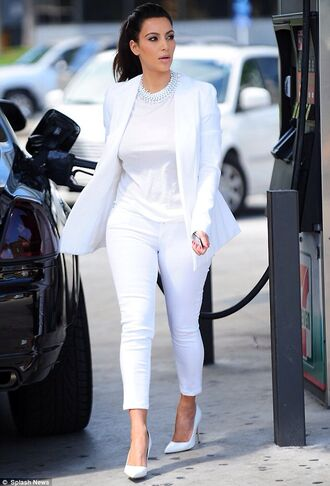 coat pants white classy suit nice