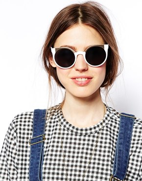 ASOS | ASOS Ridge Metal Kitten Sunglasses at ASOS