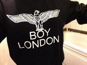 boy london,boy london logo sweatpant,sweater,black,swag