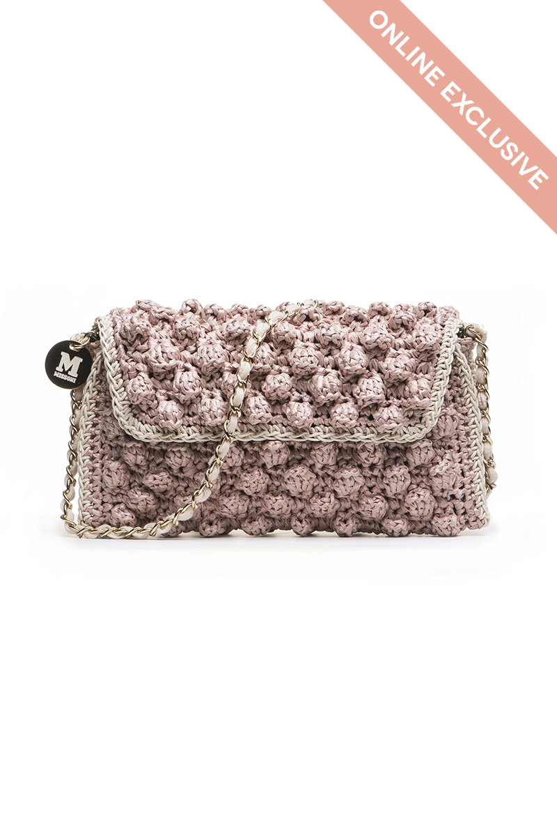 ANTIQUE ROSE FAUX RAFFIA BAG | M Missoni