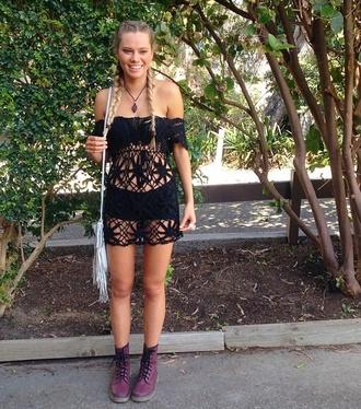 dress black crochet crochet dress crochet crop top hippie hippy dress festival dress indie boho dress boho boho chic
