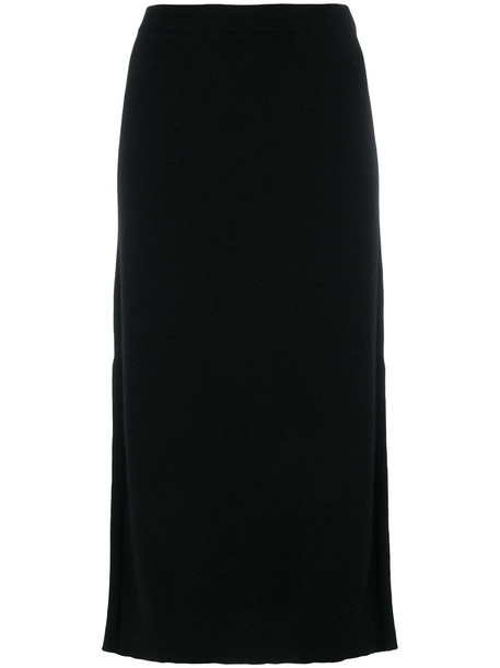 skirt knitted skirt women black
