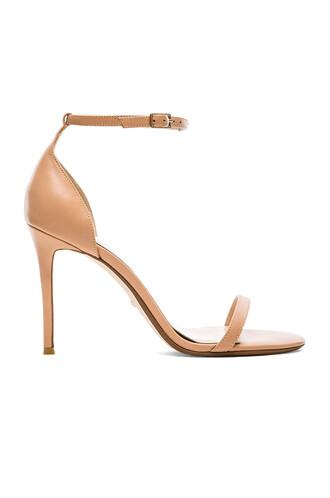 heel beige shoes