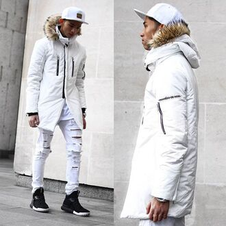 coat maniére de voir white jacket outerwear menswear fashion style trendy kanye west