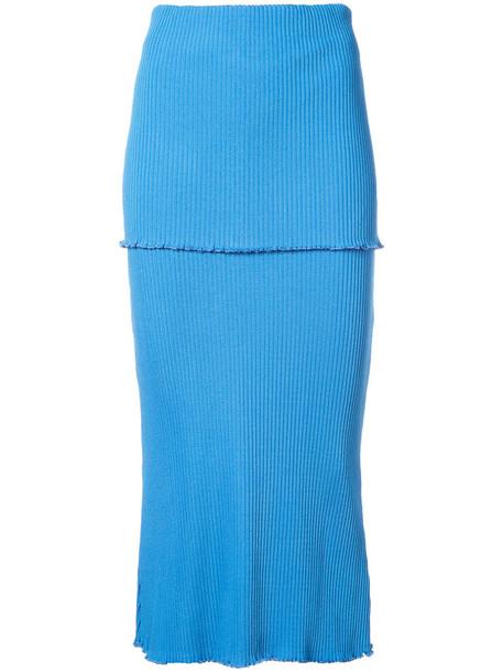 ellery skirt women spandex blue