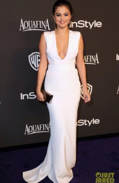 dress selena gomez's white dress