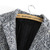 Grey Long Sleeve Single Button Tweed Coat - Sheinside.com