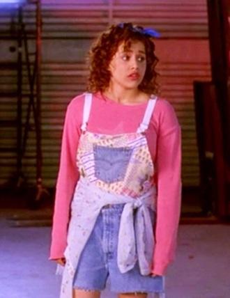 dress tai clueless sweater overall cute oversized pink denim