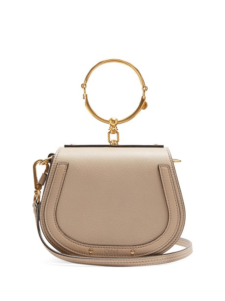 Chloe cross bag leather suede grey
