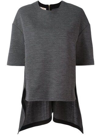 t-shirt shirt draped grey top