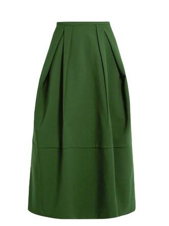 skirt midi skirt midi green