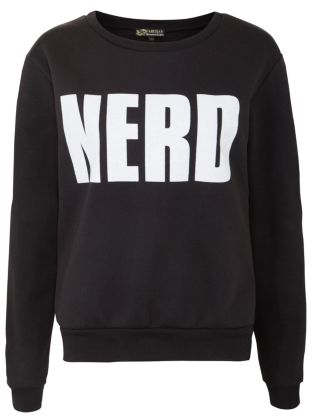 Parisian Black Nerd Sweater