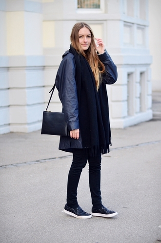 by annna blogger coat sweater scarf bag