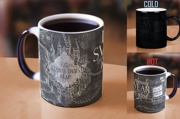 home accessory harry potter morphing mug color changing mug maruders map up to no good solemnly swear map