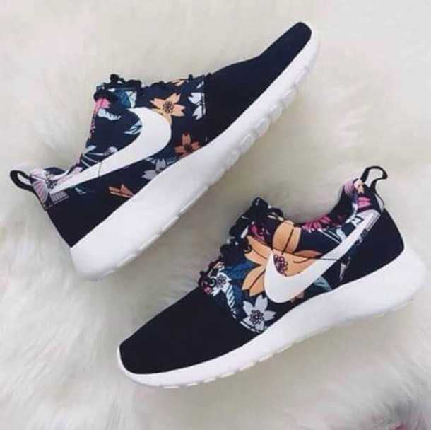 lowest price 3dff2 15714 shoes nike running shoes nike floral running shoes floral sneakers nike  rose run nike shoes tumblr