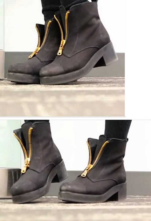 shoes boots girl girly bethany mota zip black youtuber