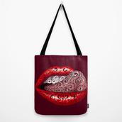 bag,art,design,abstract,illustration,style,diamonds,precious,lips,tongue