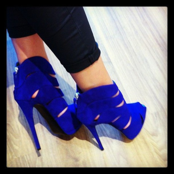 Cobalt Blue High Heels - Shop for Cobalt Blue High Heels on Wheretoget
