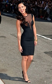 dress,megan fox,black dress