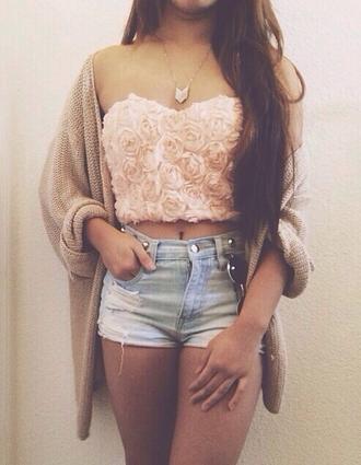 t-shirt rose pink bralette top flowers sweater shorts jacket ebonylace.storenvy ebonylace-streetfashion shirt roses 3d 3d rose 3d mesh mesh floral 3d flower mesh 3d flower