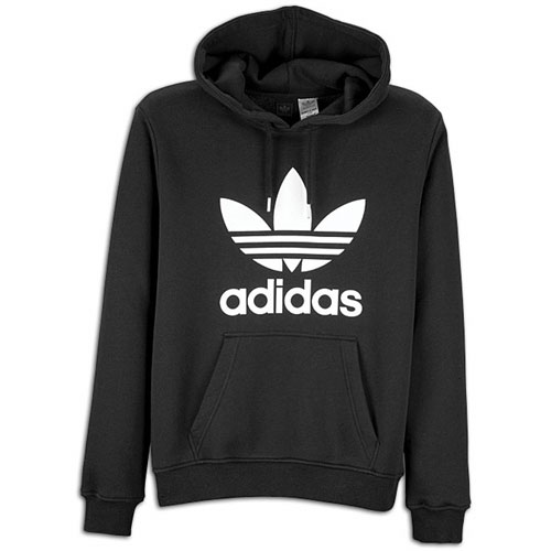 adidas Originals Trefoil Pull Over Hoodie - Men's - Casual - Clothing - Black/White