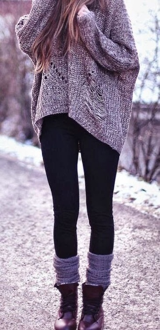 sweater leg warner's boots fall outfits outfit leggings fall fashoin