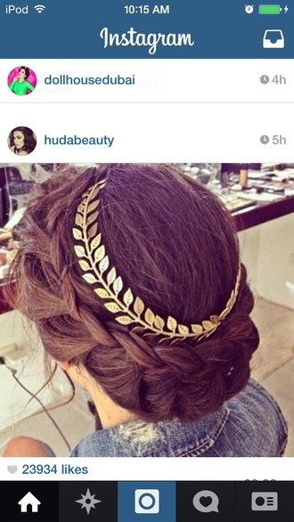 hair accessory crown indie leaf leaves princess hudabeauty dollhousedubai