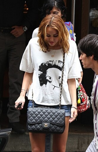 purse miley cyrus miley cyrus chanel bag bag quilted bag