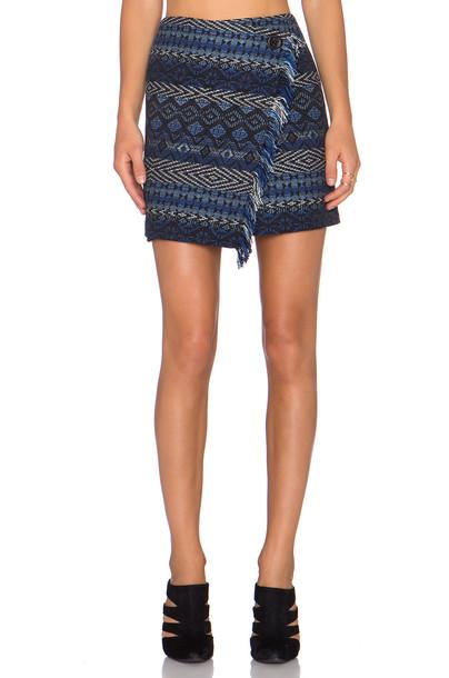 Fifteen Twenty skirt wrap skirt blue