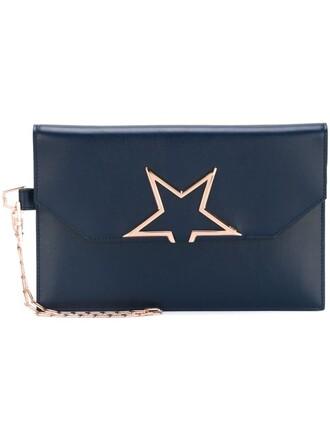 clutch blue bag