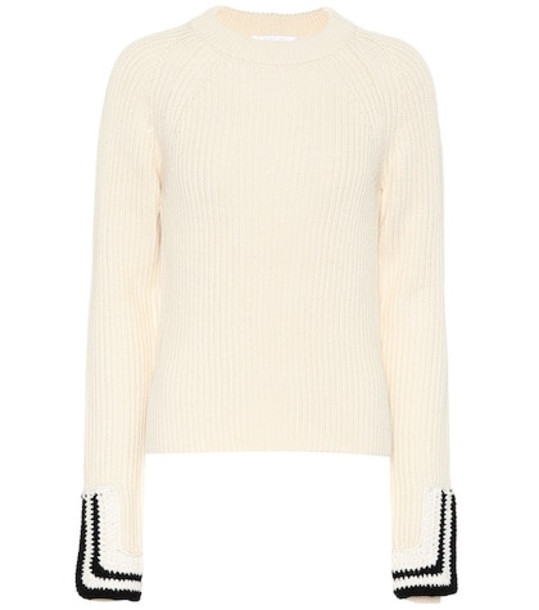 Helmut Lang Wool-blend sweater in white
