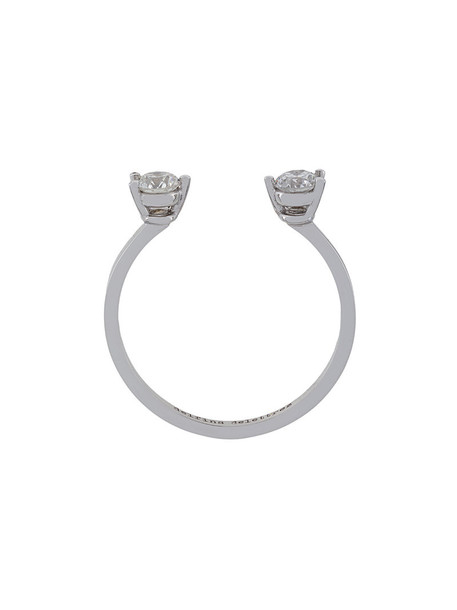 Delfina Delettrez diamond ring women ring gold white grey metallic jewels