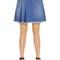 Stone wash cotton denim mini skirt