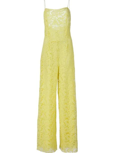 Adam Lippes sleeveless jumpsuit, Women's, Size: 2, Yellow/Orange, Cotton/Nylon/Viscose