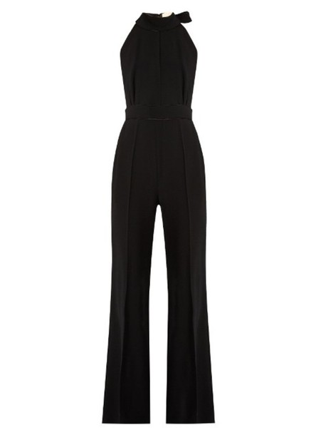 ROKSANDA Rucha wide-leg cady jumpsuit in black