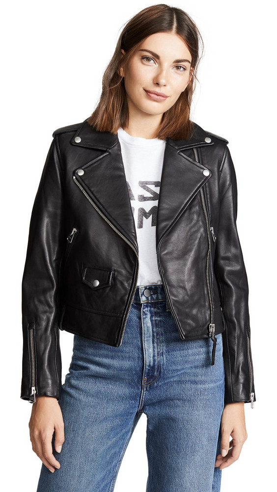 Mackage Baya Leather Jacket in black
