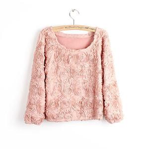Femke and Maia: 3D Roses Sweater