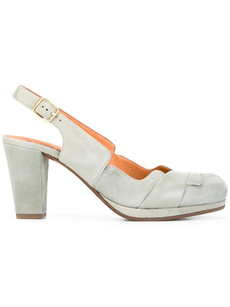 women pumps leather suede grey shoes